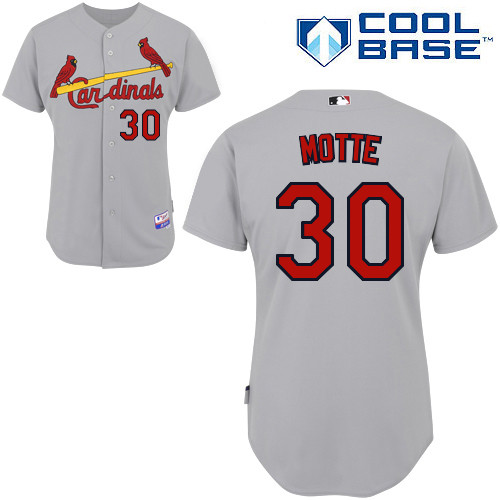 Jason Motte #30 MLB Jersey-St Louis Cardinals Men\'s Authentic Road Gray Cool Base Baseball Jersey
